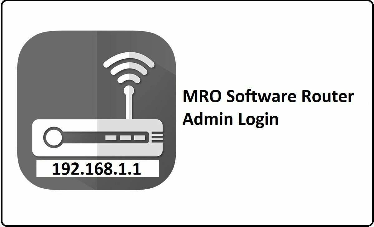 MRO Software Router Admin Login Password Change