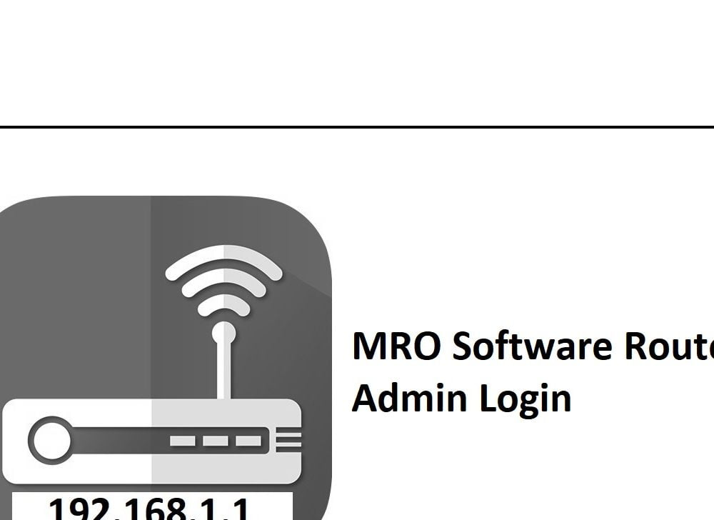 192.168.1.1 MRO Software Router Admin Login Password Change