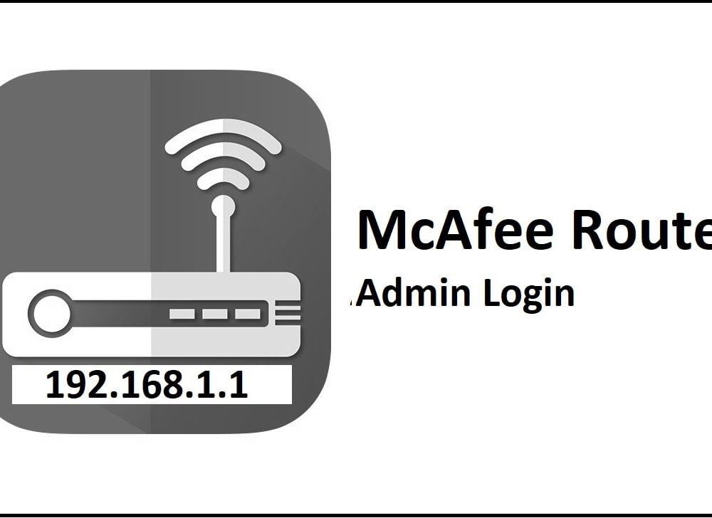 192.168.1.1 McAfee Router Admin Login Password Change