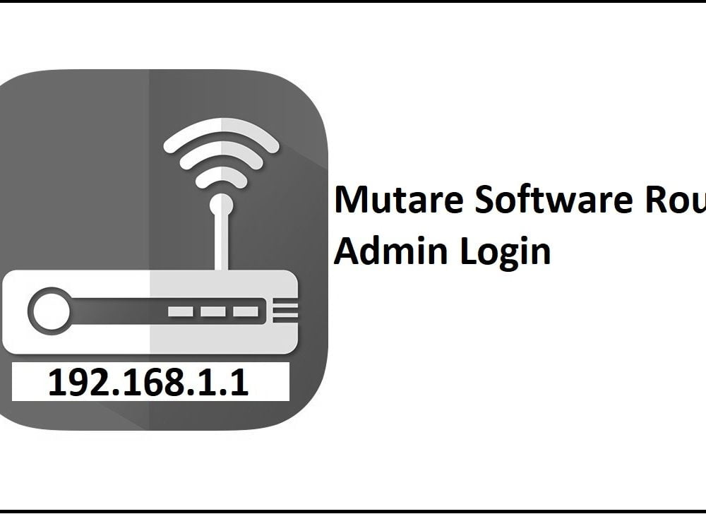 192.168.1.1 Mutare Software Router Admin Login Password Change