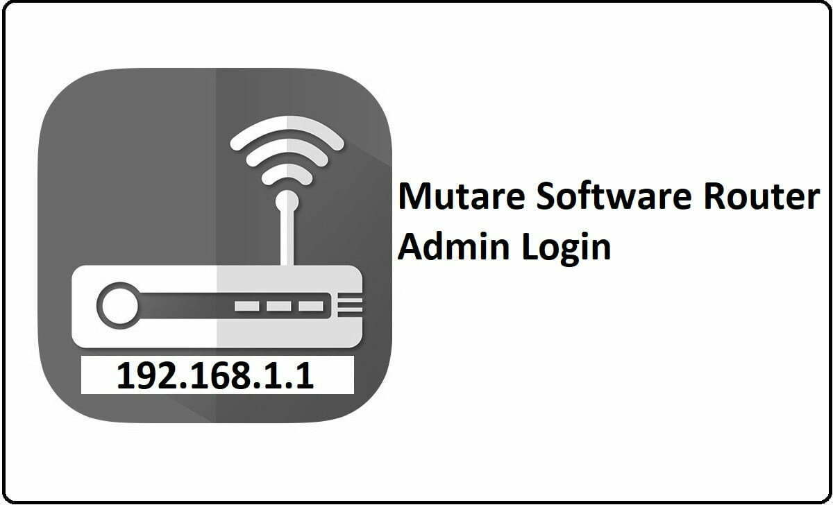 Mutare Software Router Admin Login Password Change