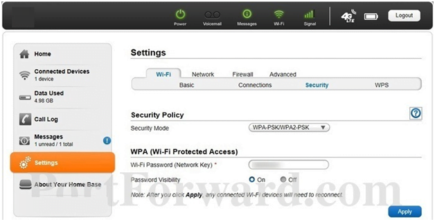NAI Router WPA & Security Settings