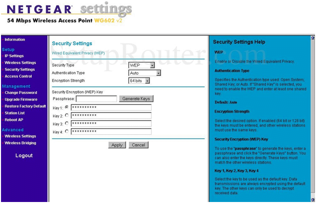 NetGear Router Security Settings