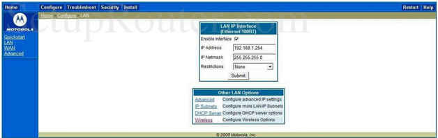 Netopia Router LAN Interface