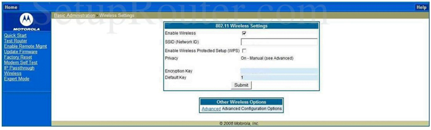 Netopia Router Wireless Settings