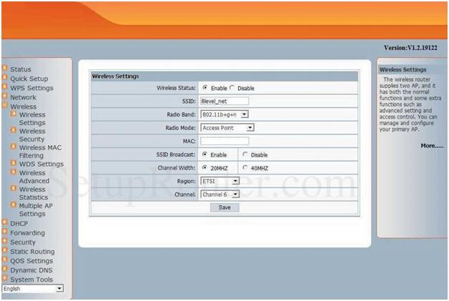 Netscreen Router Wireless Settings