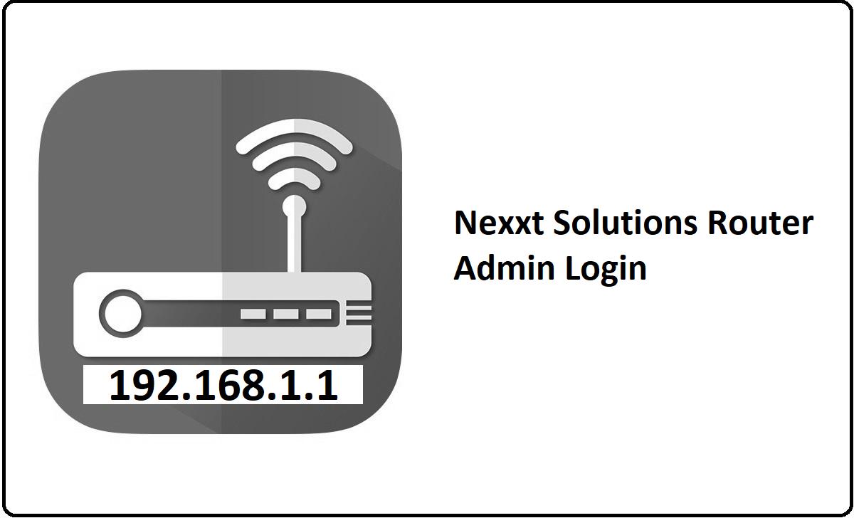 Nexxt Solutions Router Admin Login Password Change