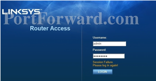 Linksys Router Login Page
