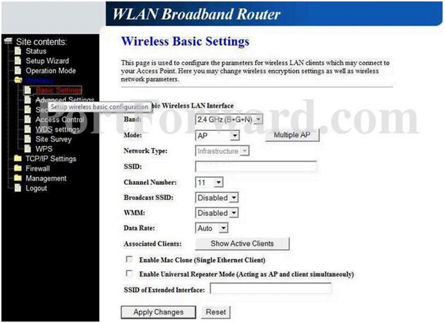 Loopcom Router IP Address Wireless Basic Settings
