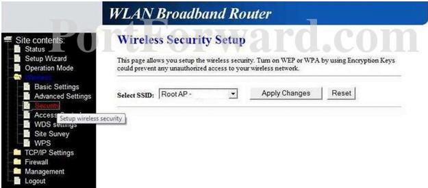 Loopcom Router Wireless Security Setup