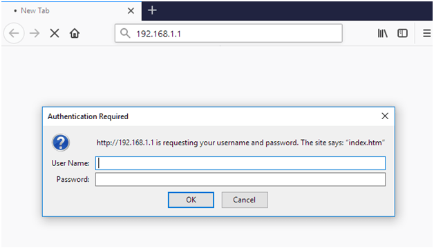 192.168.1.1 Nimble Router Admin Login Password Change