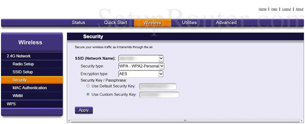 Origo Router Security Settings