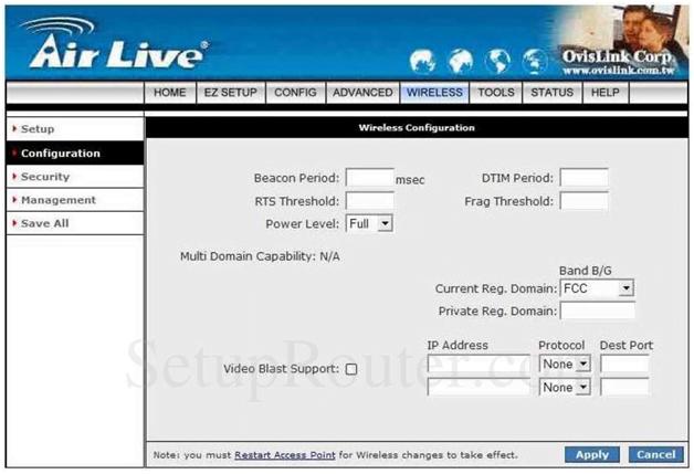 Ovislink Router Wireless Configuration